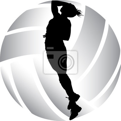 Frau Volleyball Silhouette