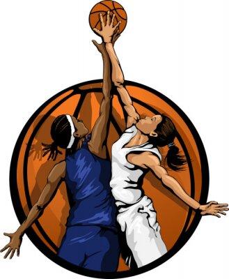 Frauen-Basketball-Sprungs-Ball Farbe