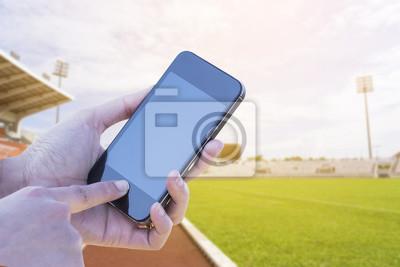 f50a88d1b16e8b Fototapete Frauen Hand halten mobile Smartphone, Tablette, Handy, Hand  halten White Smartphone mit