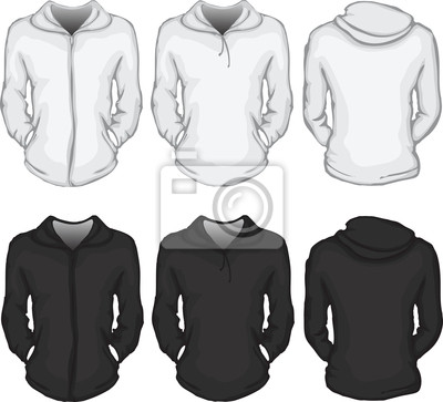 Frauen kapuzenpullover shirt-vorlage fototapete • fototapeten Hoodie ...