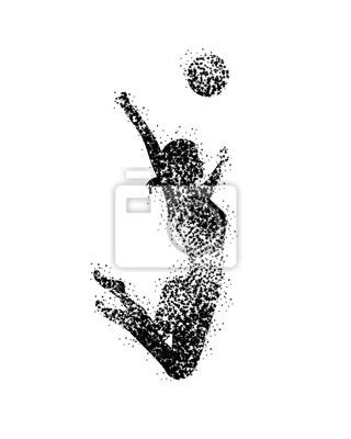 Frauen-Volleyball-Silhouetten