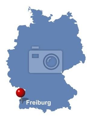 Freiburg Auf Der Deutschlandkarte Fototapete Fototapeten