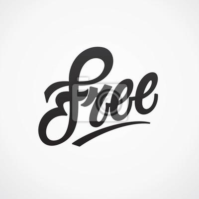 Freie Hand geschrieben Beschriftung. Vector Kalligraphie