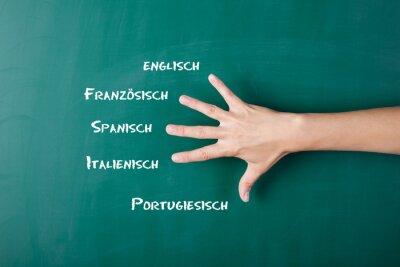 Fototapete Fremdsprachen