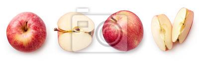 Fototapete Fresh apple on white background