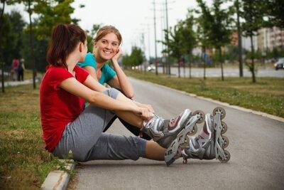 Fototapete Freunde ruhen nach Übung