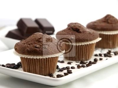 Frisch gebackene Schoko-Muffins