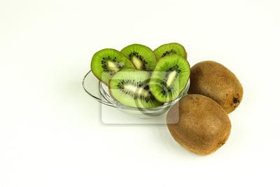 Frisch geschnittene Kiwi