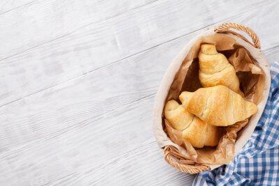 Fototapete Frische Croissants Korb