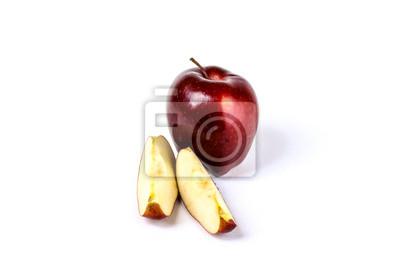 Frische geschnittene Red Delicious Äpfel