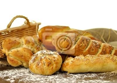 frische, hausgemachte Brot-Sortiment
