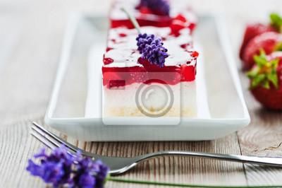Frischer Erdbeer Quark Kuchen Fototapete Fototapeten Quark