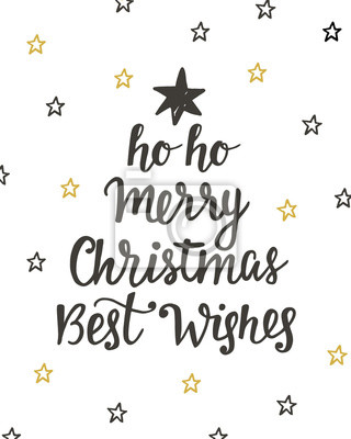 Frohe Weihnachten Beste Wunsche Urlaub Hand Geschrieben Schriftzug