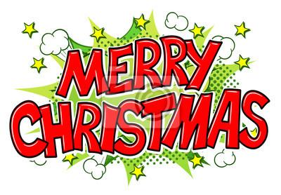 Comic Bilder Weihnachten.Fototapete Frohe Weihnachten Comic Sprechblase