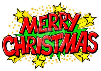 Comic Frohe Weihnachten.Fototapete Frohe Weihnachten Comic Sprechblase