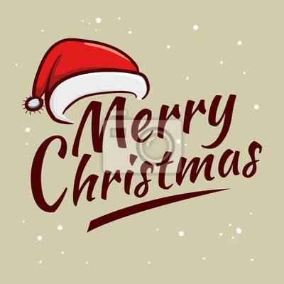 Frohe Weihnachten Grüße.Fototapete Frohe Weihnachten Grüße Typografie Kunst