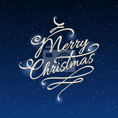 Frohe Weihnachten Schriftzug Beleuchtet.Fototapete Frohe Weihnachten Hintergrund Mit Sternen Und Glänzende Elemente