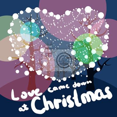 Frohe Weihnachten Liebe.Fototapete Frohe Weihnachten Liebe