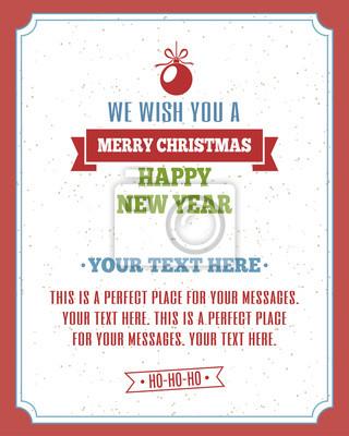 Frohe weihnachten poster für urlaub partei mit vintage-frame ...