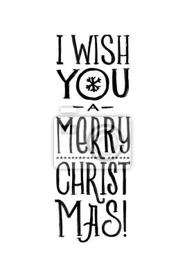 Schablone Frohe Weihnachten.Fototapete Frohe Weihnachten Retro Vektor Poster Schwarzweiss Monochrom Entwurf