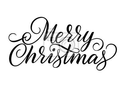 Frohe Weihnachten Schrift.Fototapete Frohe Weihnachten Schriftzug
