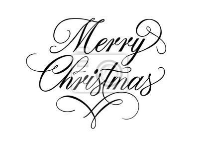 Schriftzug Frohe Weihnachten.Fototapete Frohe Weihnachten Schriftzug Mit Flourish