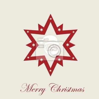 Stern Frohe Weihnachten.Fototapete Frohe Weihnachten Stern