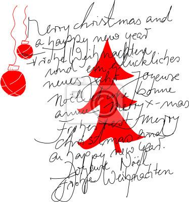 Frohe Weihnachten Text.Fototapete Frohe Weihnachten Text