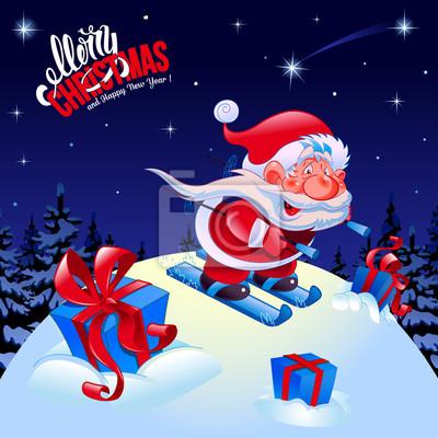 Lustige Bilder Frohe Weihnachten.Fototapete Frohe Weihnachten Und Ein Glückliches Neues Jahr Glückwunsch