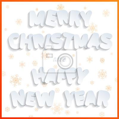 Buchstaben Frohe Weihnachten.Fototapete Frohe Weihnachten Und Ein Gutes Neues Jahr Flache Designschriftart