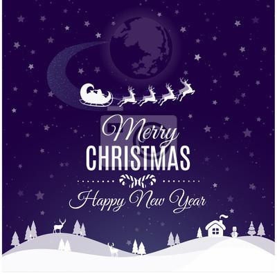 Frohe Weihnachten Grüße.Fototapete Frohe Weihnachten Und Frohes Neues Jahr Gruß