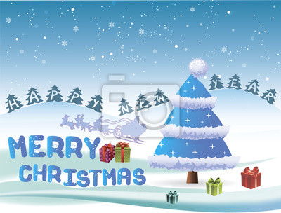 Frohe weihnachten und glückliches neues jahr auf einer ...