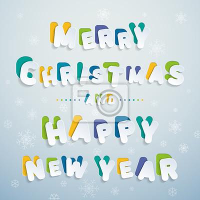 Frohe weihnachten und guten rutsch ins neue jahr! bunte buchstaben ...