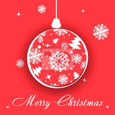 Frohe Weihnachten Einen Guten Rutsch Ins Neue Jahr.Fototapete Frohe Weihnachten Und Guten Rutsch Ins Neue Jahr Einladungskarte