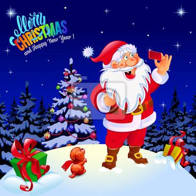 Frohe Weihnachten Und Guten Rutsch In Neues Jahr.Fototapete Frohe Weihnachten Und Guten Rutsch Ins Neue Jahr Gluckwunsch