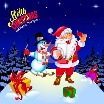 Frohe Weihnachten Einen Guten Rutsch Ins Neue Jahr.Fototapete Frohe Weihnachten Und Guten Rutsch Ins Neue Jahr Glückwunsch