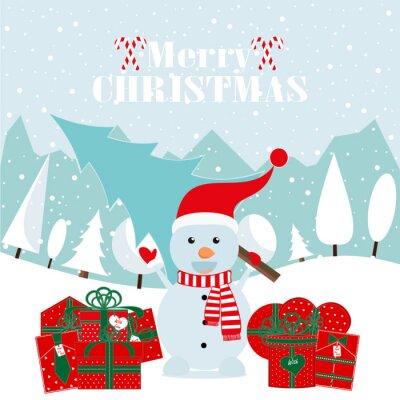 Frohe weihnachten und happy new year! frohes neues jahr karte ...
