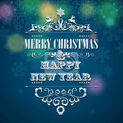 Frohe Weihnachten Und Happy New Year.Fototapete Frohe Weihnachten Und Happy New Year Hintergrund