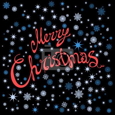 Frohe Weihnachten Und Happy New Year.Fototapete Frohe Weihnachten Und Happy New Year Karte Mit Hand Gezeichnet