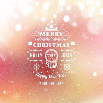 Karte Weihnachten.Fototapete Frohe Weihnachten Und Happy New Year Karte Weihnachten Typografische