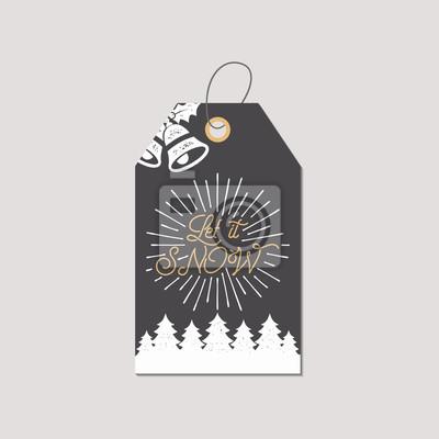 Geschenkanhänger Frohe Weihnachten.Fototapete Frohe Weihnachten Und Neujahr Geschenkanhänger Feiertagskartenkonzept
