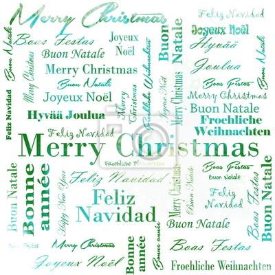 Weihnachten Wörter.Fototapete Frohe Weihnachten Wörter In Vielen Sprachen
