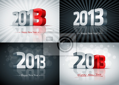 Frohes Neues Jahr 2013 Set