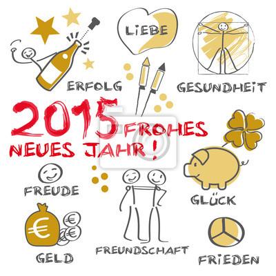 Frohes neues jahr 2015 fototapete • fototapeten sylvester ...