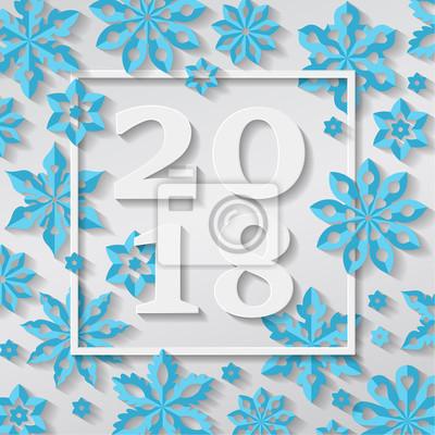 Frohes Neues Jahr Frohe Weihnachten 2018 Schneeflocke Urlaub