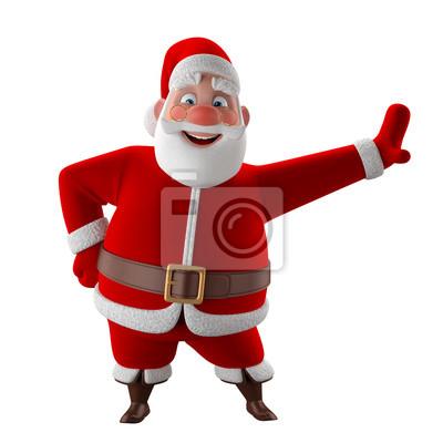Fröhlich 3d-modell von santa claus, glückliches weihnachten icon ...