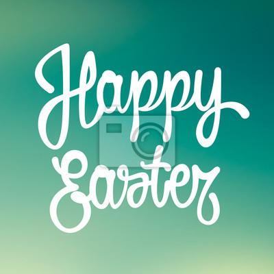 Fröhliche Ostern Hand gezeichnet Schriftzug. Vektor