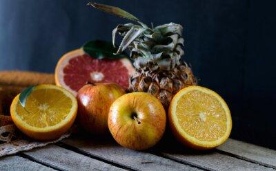 Fototapete Früchte auf dem Tisch