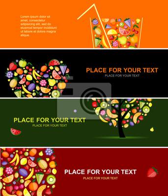 Früchte Banner horizontal für Ihr Design