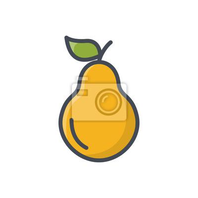 Früchte birne farbige symbol fototapete • fototapeten gefüllt, Birne ...
